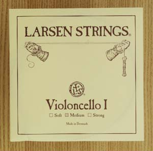 LARSENラーセン チェロ弦1a ミディアム スチール/クロムスチール巻