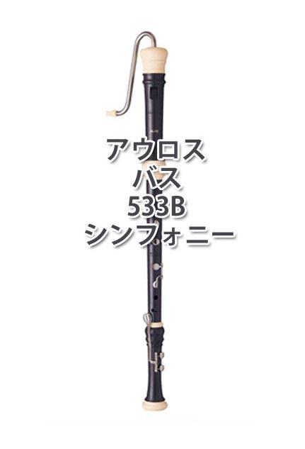 アウロス バスリコーダー 533B (E) シンフォニー ハードケース付【追跡メール便不可】【お取り寄せ商品】