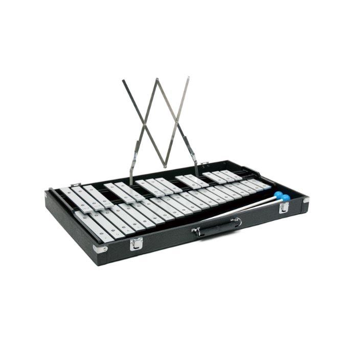 ヤマハ 卓上鉄琴 TG-50C ハードケース・専用マレット 簡易譜面受け(ソフトケース付) アルミ合金音板 32音