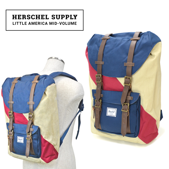 160e0ab4337 Herschel Supply Little America Mid Volume Rucksack Backpack Bag Studio  Collection