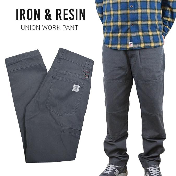 【割引クーポン配布中】 IRON & RESIN (アイアン & レジン) UNION WORK PANT ワークパンツ ダック地 SLATE 【あす楽対応】【クリアランス】
