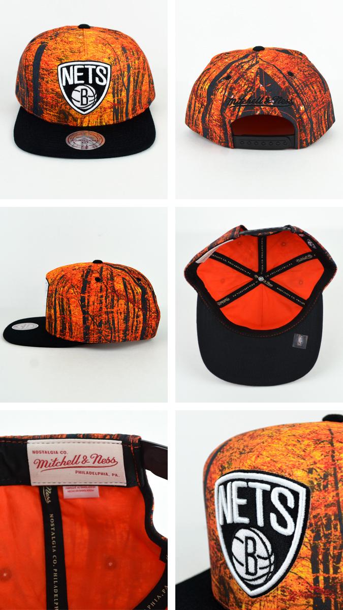Mitchell & 岬 (Mitchell & 岬) 彈回布魯克林網帽帽子森林迷彩業績回升布魯克林網 NBA