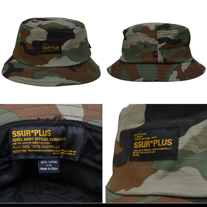 b9de0399d85 NAKED-STORE  SSUR PLUS   surplus Woodland Camo Bucket Hat hats Cap ...