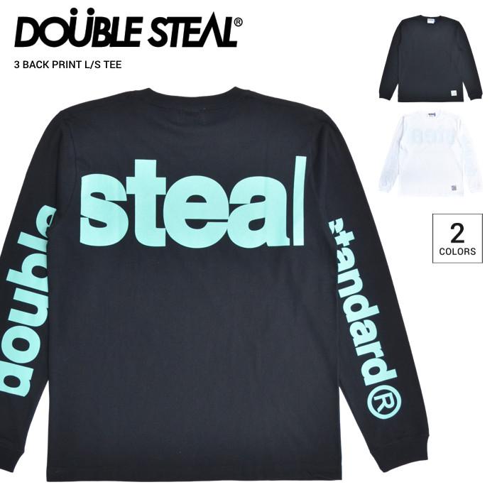 超激安 ダブルスティール DOUBLE STEAL 長袖Tシャツ 日本正規代理店商品 男性用 ストリート系 送料無料 ロゴTシャツ 割引クーポン配布中 ロンT 3 BACK PRINT L 単品購入の場合はネコポス便発送 メンズ 日本最大級の品揃え Tシャツ 長袖 ブラック S カットソー TEE 914-12033 トップス ホワイト T-SHIRT M-XL