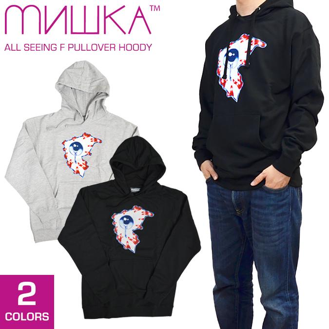【割引クーポン配布中】 MISHKA(ミシカ)×FAMOUS STARS AND STRAPS All Seeing F Pullover Hoody プルオーバー パーカー フリース スウェット 【あす楽対応】