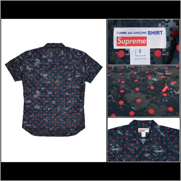 SUPREME X COMME des GARCONS シュプリーム X コムデギャルソン CDG SHIRT LOOP COLLAR SHIRT  shirt camo collaboration short sleeves
