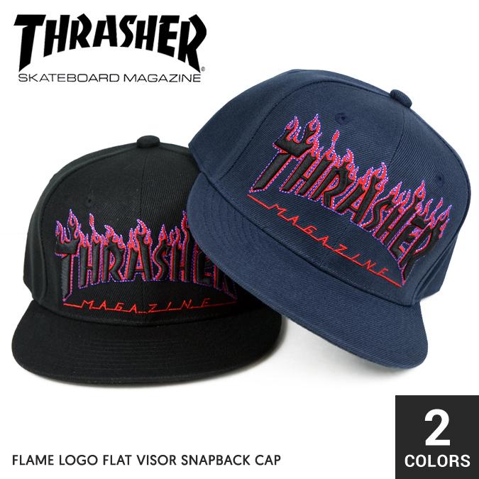 NAKED-STORE  THRASHER (Thrasher) FLAME LOGO FLAT VISOR SNAPBACK CAP ... 4dfdb1218