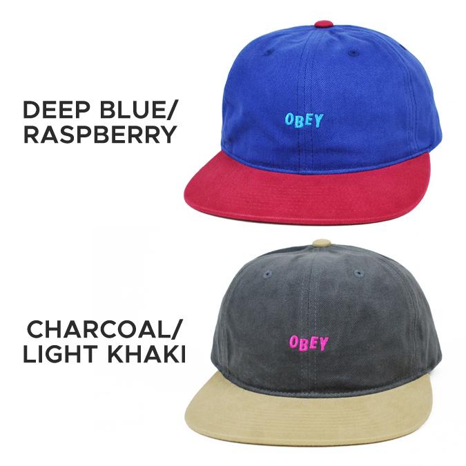 OBEY (オベイ) 90'S OBEY JUMBLE HAT CAP cap hat strap back cap 6 panel cap men gap Dis unisex street skating