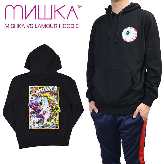 【割引クーポン配布中】 MISHKA (ミシカ) MISHKA VS LAMOUR HOODIE プルオーバー パーカー メンズ スウェット フリース ストリート 【あす楽対応】