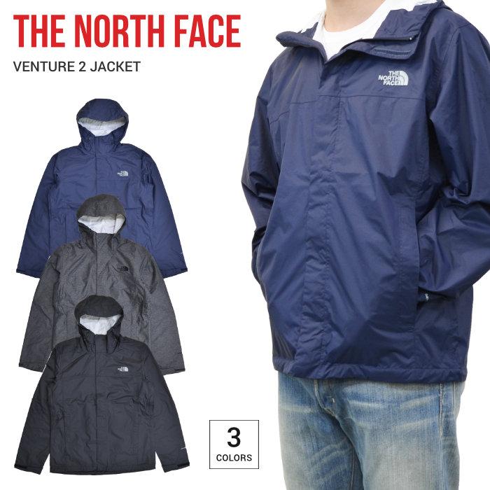 【割引クーポン配布中】 THE NORTH FACE (ノースフェイス) VENTURE 2 JACKET マウンテンパーカー ナイロンジャケット メンズ アウター ブルゾン S-XL ブラック グレー ネイビー 【あす楽対応】