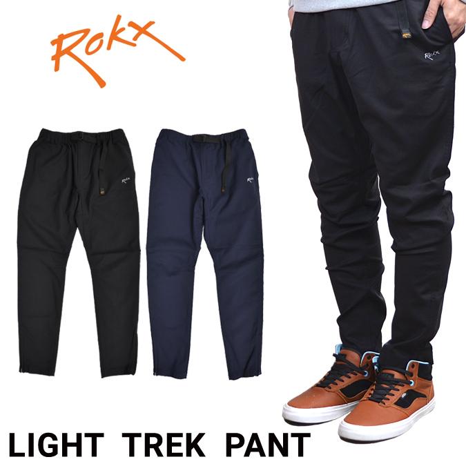 【割引クーポン配布中】 ROKX (ロックス) LIGHT TREK PANT ライト トレック パンツ クライミングパンツ スリム テーパード メンズ カジュアルパンツ 【あす楽対応】