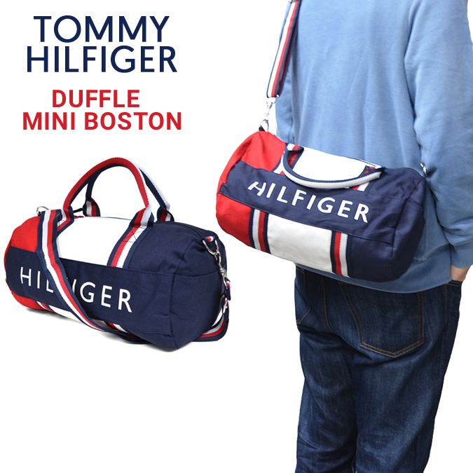 Yhdysvallat söpö koko 7 TOMMY HILFIGER (トミーヒルフィガー) DUFFLE MINI BOSTON BAG mini-duffel bag Boston  bag bag shoulder bag bag men gap Dis unisex