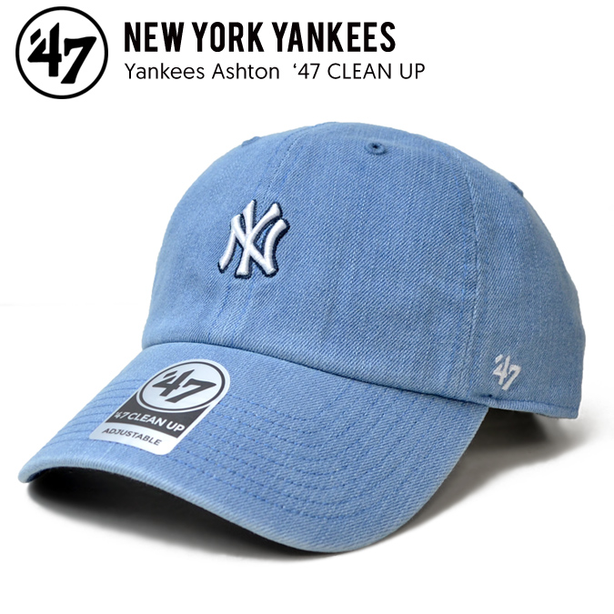 47BRAND (forty seven brand) YANKEES ASHTON 47 CLEAN UP CAP cleaning up cap  hat strap back cap jean men gap Dis is unisex 6715170e11a7