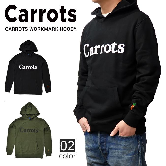 【クーポン利用で最大1,000円OFF】 Carrots By Anwar Carrots (キャロッツ) WORKMARK HOODY プルオーバー パーカー フリース スウェット メンズ ストリート 【あす楽対応】