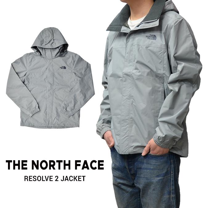 【割引クーポン配布中】 THE NORTH FACE (ノースフェイス) RESOLVE 2 JACKET マウンテンパーカー ナイロンジャケット メンズ アウター グレー S-XL 【あす楽対応】