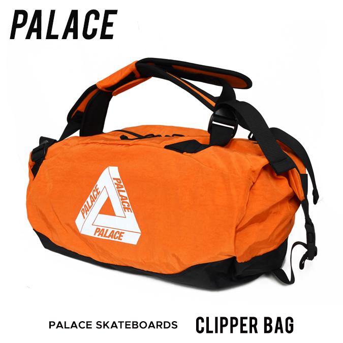【クーポン利用で最大1,000円OFF】 PALACE SKATEBOARDS (パレス スケートボード) CLIPPER BAG ボストンバッグ ダッフルバッグ バックパック リュック 鞄 メンズ レディース ユニセックス オレンジ 【あす楽対応】