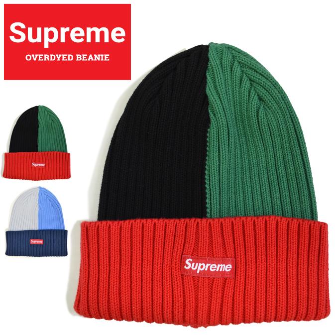 【割引クーポン配布中】 Supreme (シュプリーム) ビーニー OVERDYED BEANIE ニットキャップ ニット帽 帽子 レッド ブルー SUPREME 20SS 【あす楽対応】