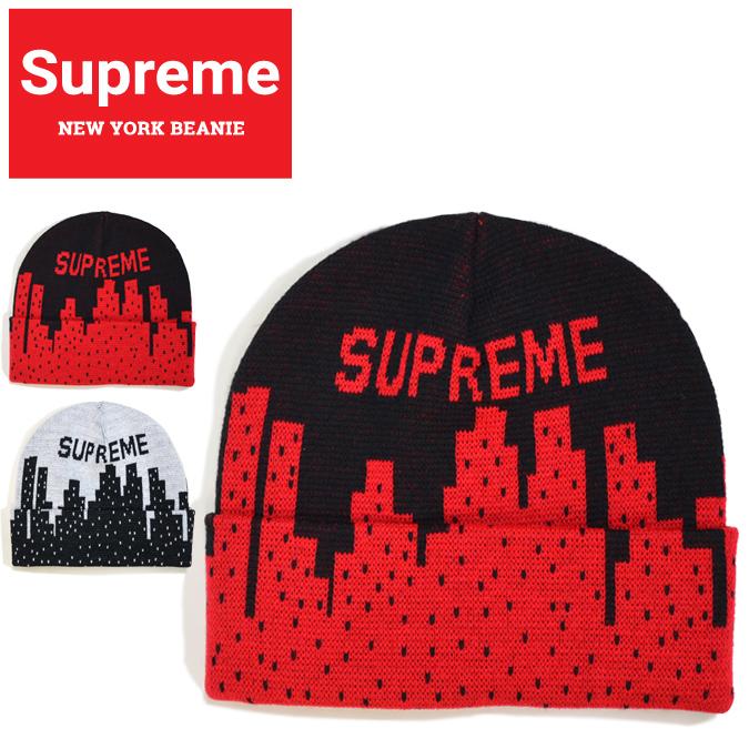 【割引クーポン配布中】 Supreme (シュプリーム) ビーニー NEW YORK BEANIE ニットキャップ ニット帽 帽子 ブラック ホワイト SUPREME 20SS 【あす楽対応】