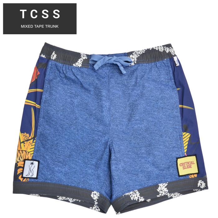 アメリカ直営店買付の本物 正規品 送料無料 男性用 メンズファッション 至上 大人カジュアル シンプル ベーシック 超激安特価 割引クーポン配布中 TCSS ティーシーエスエス MIXED TRUNK あす楽対応 ハーフパンツ メンズ 水着 BS2106 ショートパンツ TAPE 海パン サーフ ショーツ ボードショーツ