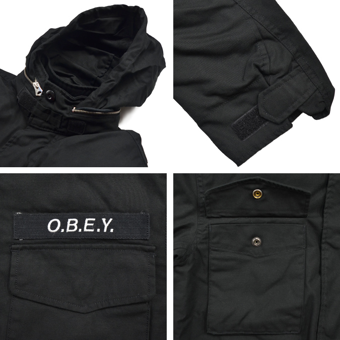 Obey Mens Iggy Insulated Military Jacket Insulated Jacket