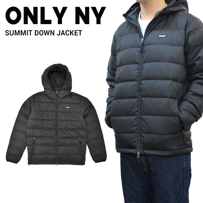 【割引クーポン配布中】 ONLY NY (オンリーニューヨーク) SUMMIT DOWN JACKET ダウンジャケット メンズ ストリート スケート アウター 黒/ブラック S-XL 【あす楽対応】【バーゲン】