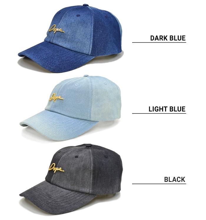 e8905bf0377 DOPE (dope) 24K SCRIPT DENIM DAD HAT CAP cap 6-PANEL CAP hat strap back cap  6 panel cap men gap Dis unisex street