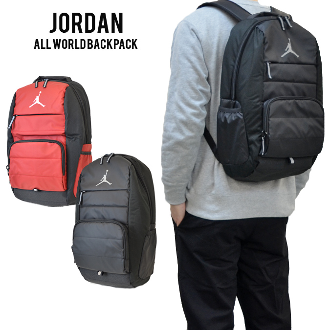 f5c472641e NIKE (Nike) ALL WORLD BACKPACK JORDAN Jordan rucksack backpack bag BAG men  gap Dis unisex black   black red   red