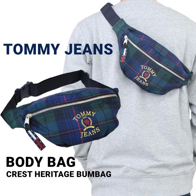【クーポン利用で最大1,000円OFF】 TOMMY JEANS (トミージーンズ) CREST HERITAGE SLING BAG ボディバッグ ウエストバッグ ポーチ 鞄 メンズ レディース ユニセックス 【あす楽対応】