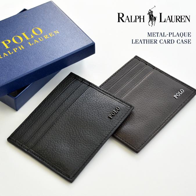 【割引クーポン配布中】 POLO Ralph Lauren (ポロ ラルフローレン) カードケース METAL-PLAQUE LEATHER CARD CASE カード入れ パスケース レザー 本革 メンズ レディース ユニセックス アメカジ 【あす楽対応】