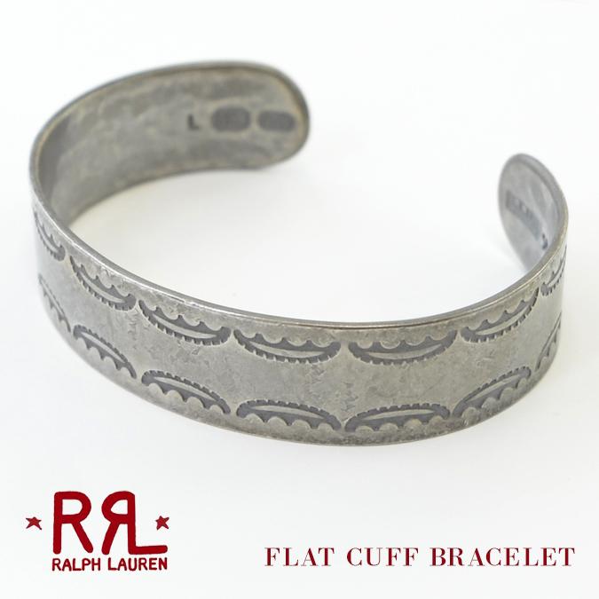 【割引クーポン配布中】 RRL (ダブルアールエル) ブレスレット Ralph Lauren ラルフローレン Sterling Silver Flat Cuff Bracelet スターリングシルバー カフ バングル アクセサリー メンズ 【あす楽対応】