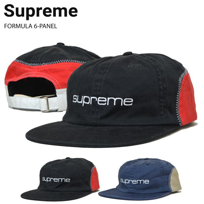 【割引クーポン配布中】 Supreme (シュプリーム) キャップ FORMULA 6-PANEL CAP 6パネルキャップ 帽子 ストラップバックキャップ メンズ レディース ストリート スケート SUPREME 【あす楽対応】