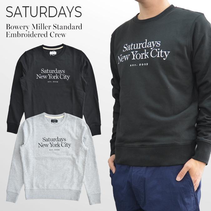 【割引クーポン配布中】 SATURDAYS NYC (サタデーズ ニューヨークシティ) Ditch Miller Standard Embroidered Crew クルーネック スウェット トレーナー フリース メンズ サタデーズサーフ 【あす楽対応】