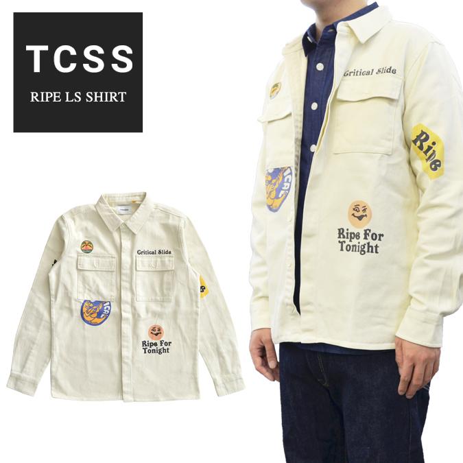【割引クーポン配布中】 TCSS (ティーシーエスエス) シャツ RIPE L/S SHIRT ワークシャツ 長袖 メンズ S-XL ホワイト LS1824 【あす楽対応】
