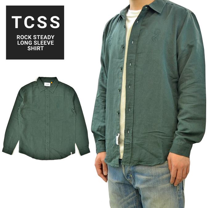 【割引クーポン配布中】 TCSS (ティーシーエスエス) シャツ ROCK STEADY L/S SHIRT ワークシャツ ヘンプシャツ 長袖 メンズ S-XL グリーン LS1826 【あす楽対応】