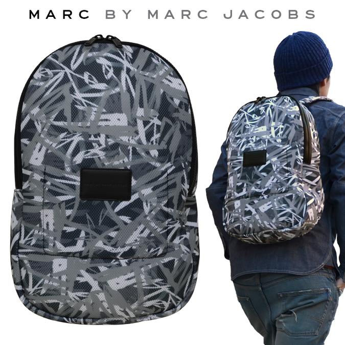 【割引クーポン配布中】 MARC BY MARC JACOBS マーク バイ マークジェイコブス バックパック GRAFFITI MESH PACKABLES BACKPACK リュック バッグ メンズ レディース 【あす楽対応】