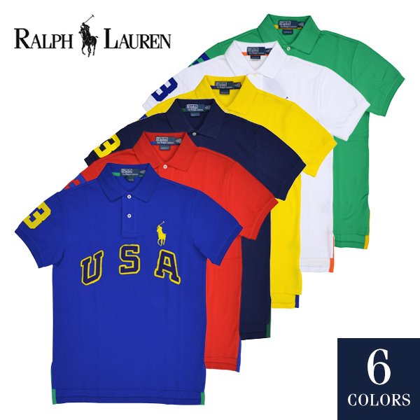 POLO by Ralph Lauren Custom-Fit USA Big Pony Polo