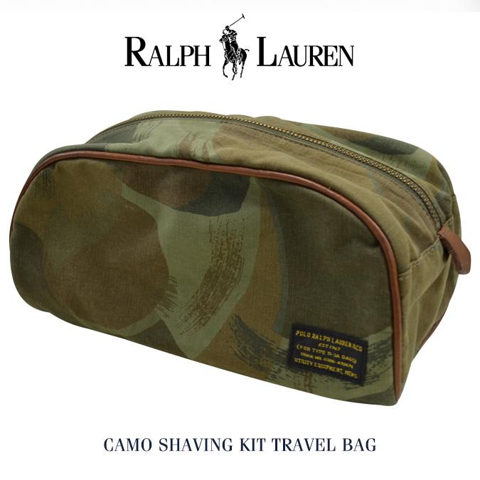 【割引クーポン配布中】 POLO Ralph Lauren ポロ ラルフローレン Camo Shaving Kit Travel Bag トラベルバッグ ポーチ 鞄 小物入れ 【あす楽対応】