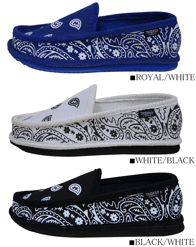 TROOPER AMERICA sneakers shoes toe looper SHOES paisley room shoes house shoes bandana pattern shoes slip-on men gap Dis