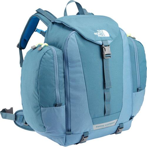 在供北脸NMJ71501 sanikyampa 40小孩使用的帆布背包/幼儿园~小学生/容量42升/住宿学习、住的保育、回乡旅行THE NORTH FACE K SUNNY CAMPER 40