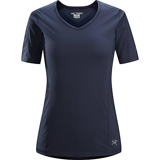 正規品 待望 トレラン トレッキングなどに最適な機能Tシャツです アークテリクス ARCTERYX BR 品質保証 モータスクルーネックショートスリーブ ウィメン Motus Crew アンダーウエア 女性用 SS ネイビー系 Ws サイズM 機能Tシャツ