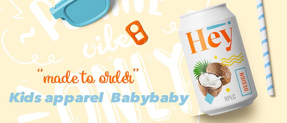 KidsApparel Babybaby:オーダーメイドでお名前の入ったTシャツを販売