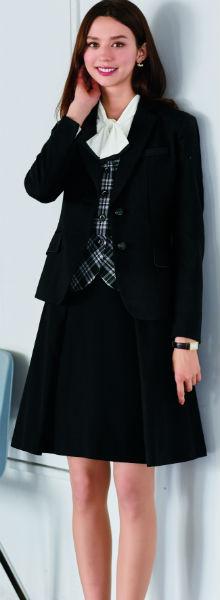 SA370J 美形ジャケット 神馬本店(selectstage)事務服・制服【メーカーカタログより40%OFF】5号~19号 ポリエステル75%・毛25%