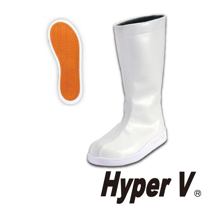 Hyper V #5400 先芯入り厨房シューズ(ロングタイプ) 日進ゴム NISSHINRUBBER 厨房の日進 21.5~30.0cm 合成皮革 全方向滑りにくい耐油底