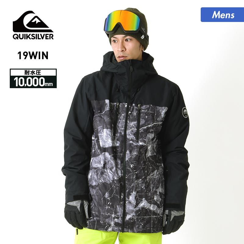 全品割引券配布中 アウトレット メンズ スノーボードウェア スノーウェア スノボウェア スキーウェア 上 スノージャケット 男性用 QUICKSILVER クイックシルバー EQYTJ03195