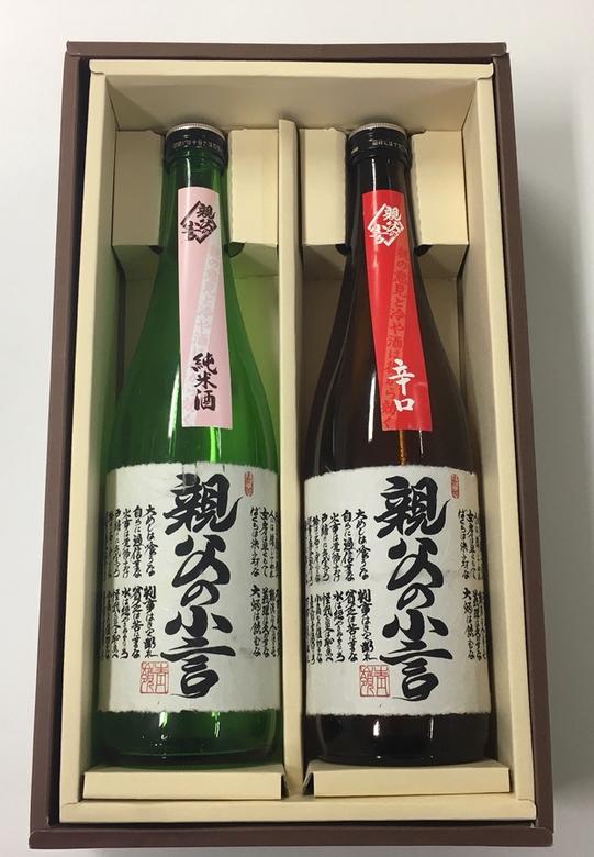 ギフト 親父の小言 純米酒&辛口2本セット 720ml×2
