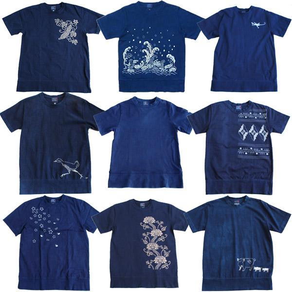 【送料無料】 【受注生産:5~6日後の発送】 琉球 藍染め ヘビーウエイト 綿 コットン 半袖 Tシャツ 3L 4L サイズ