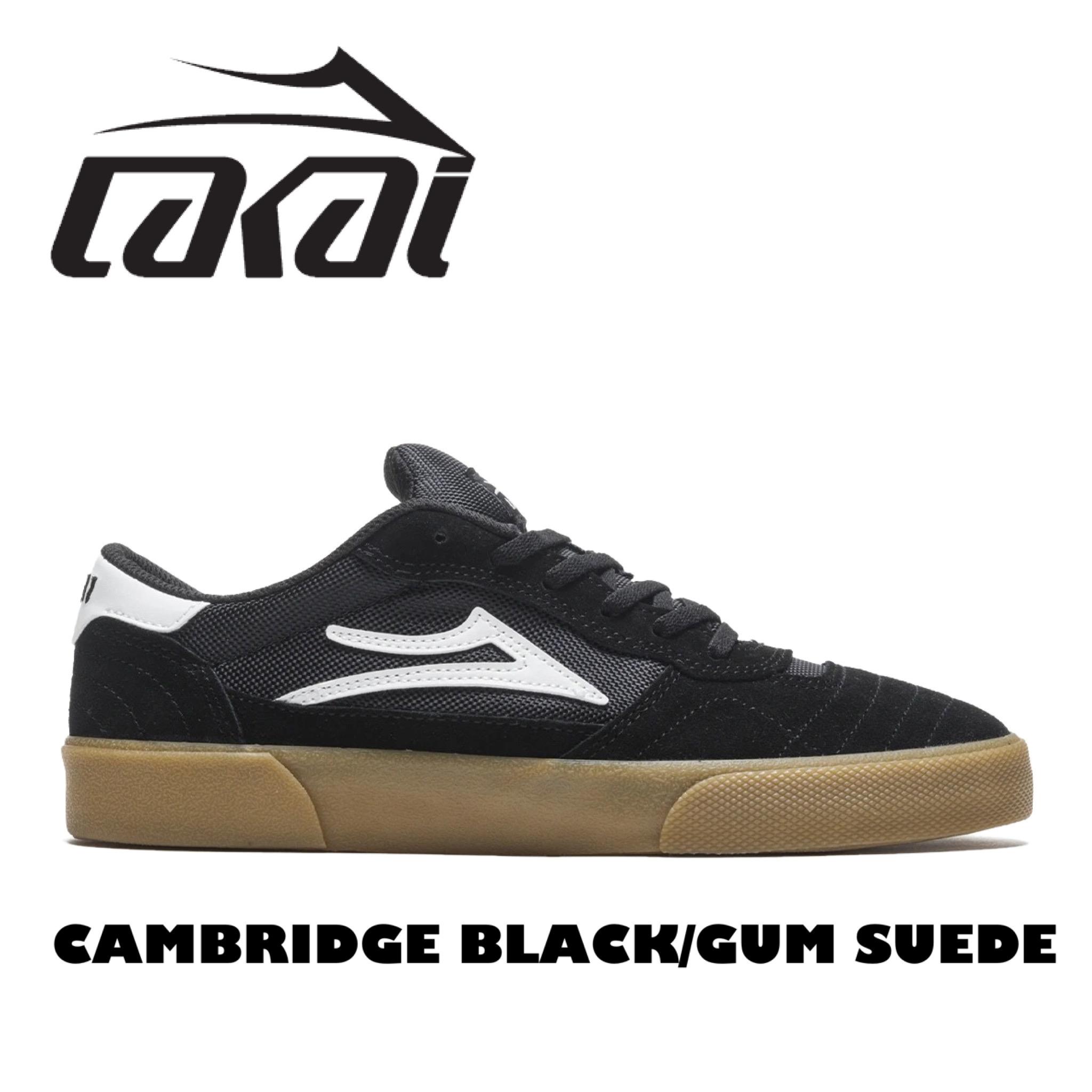 LAKAI CAMBRIDGE BLACK GUM SUEDE ラカイ ケンブリッジ 流行のアイテム ブラック×ガム スウェード 低価格 スケートシューズ ローカットくつ レディース キッズ スエードスケートボードシューズ スケシュー メンズ 靴 スケボー