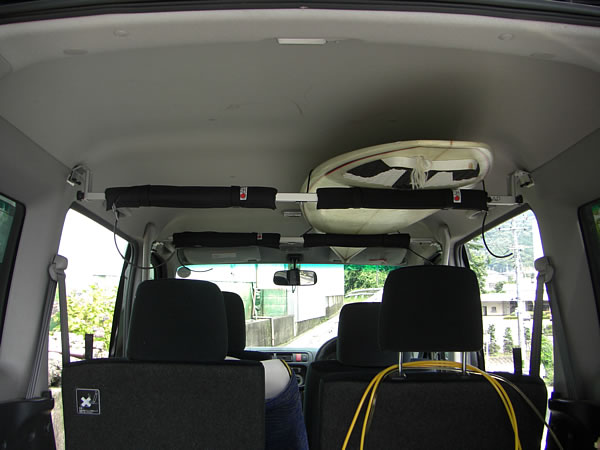 CAPキット ピラー金具2ヶ所とダイレクト用取付金具2ヶ所の組み合わせキット 車内キャリア
