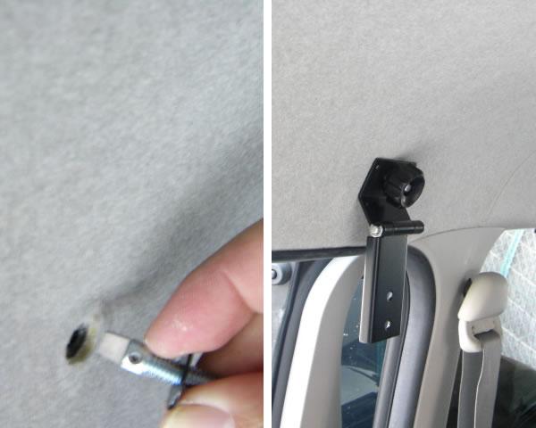 【CAPキット】ダイレクト用取付金具2ヶ所とカーゴネットフォルダー金具2ヶ所の組み合わせ 車内キャリア