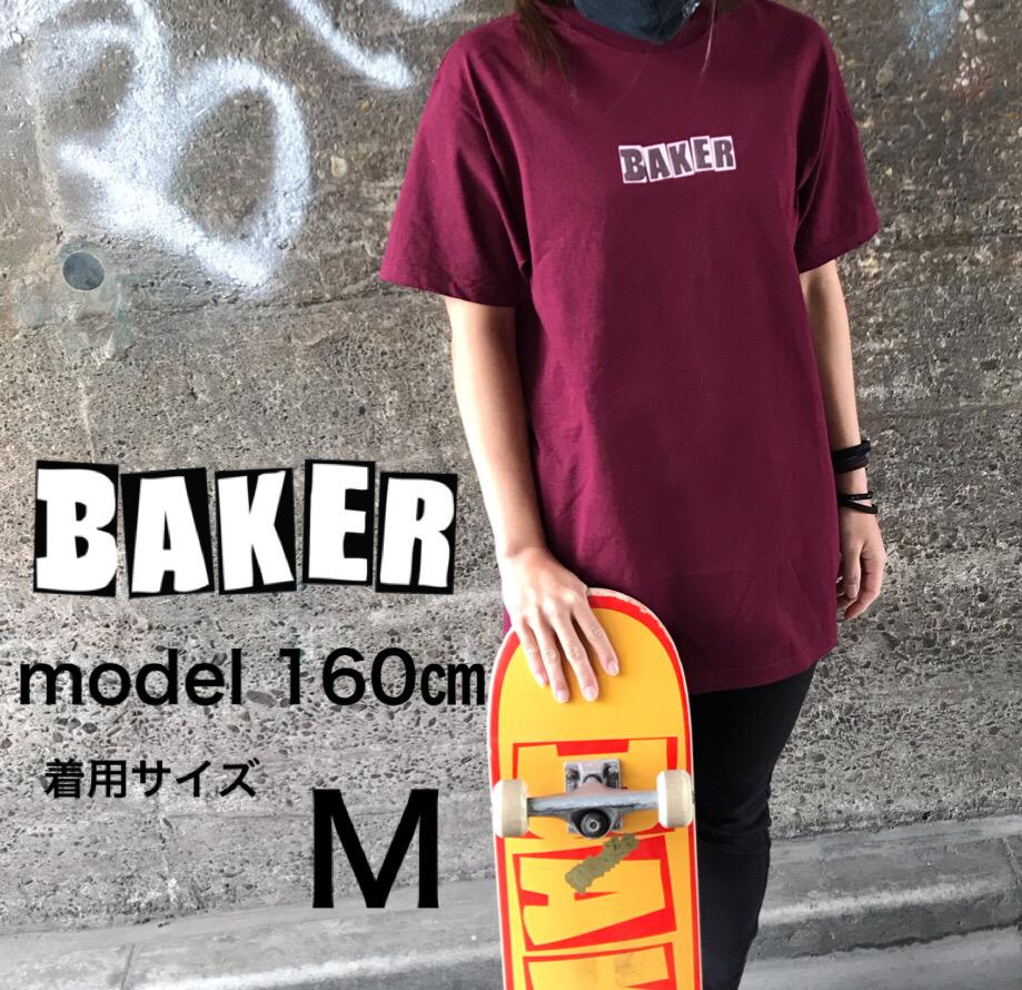 正規代理店 BLAZEブレイズ BAKER baker skate BRAND LOGO T-SHIRT DARK tシャツバーガンディ スケートボード スケボー メンズ 限定品 Tシャツ レディース BURGUNDYベイカー レッド 激安通販 ワイン